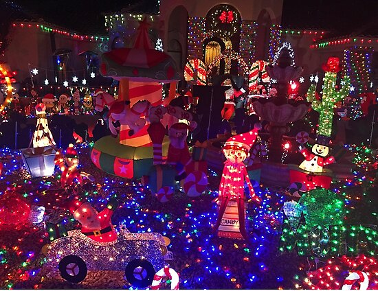 Taylor Residence Christmas Lights Extravaganza 1  by Robert Meyers-Lussier