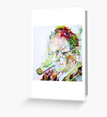 RAYMOND CHANDLER - watercolor portrait Greeting Card