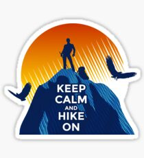 Keep Calm and Hike On Sticker