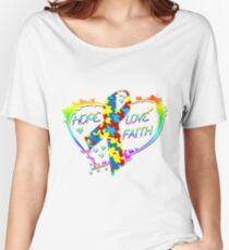 Hope Love Faith Women's Relaxed Fit T-Shirt