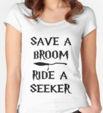 Save A Broom Women's Fitted Scoop T-Shirt