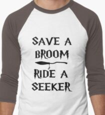 Save A Broom Men's Baseball ¾ T-Shirt