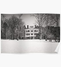 Historic New England Home Poster