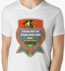 Beer Party Day Mens V-Neck T-Shirt