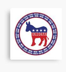 Democratic Party Wins Canvas Print