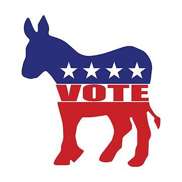 Vote Democrat Donkey by Democrat