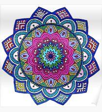 Mandala Rainbow Poster