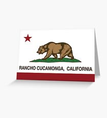 Rancho Cucamonga California Republic Flag  Greeting Card