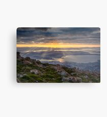 Sunbeams over Hobart, Tasmania Metal Print