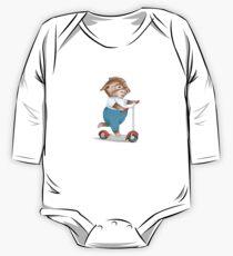 Garth William's Little Pig Baby Body Langarm