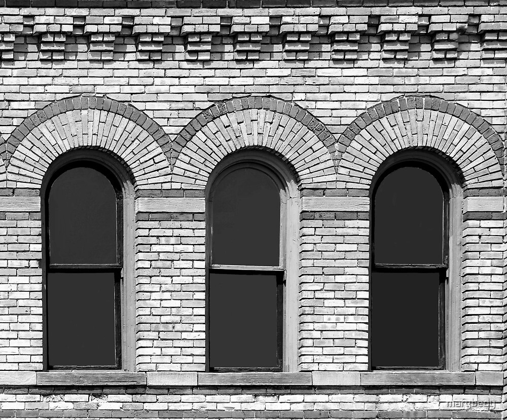 Classic Architecture 1 Black and White by marybedy