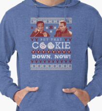 Put That Cookie Down, Now! Ugly Sweater Design Lightweight Hoodie