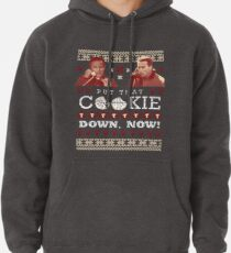Put That Cookie Down, Now! Ugly Sweater Design Pullover Hoodie