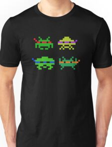 Super Space Ninja Turtles Invaders T-shirt