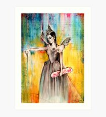 Titania with Skateboard Art Print