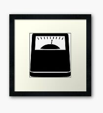 Weight Scales Framed Print