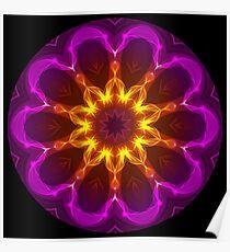 Pink Purple Rays Kaleidoscope 01 Poster