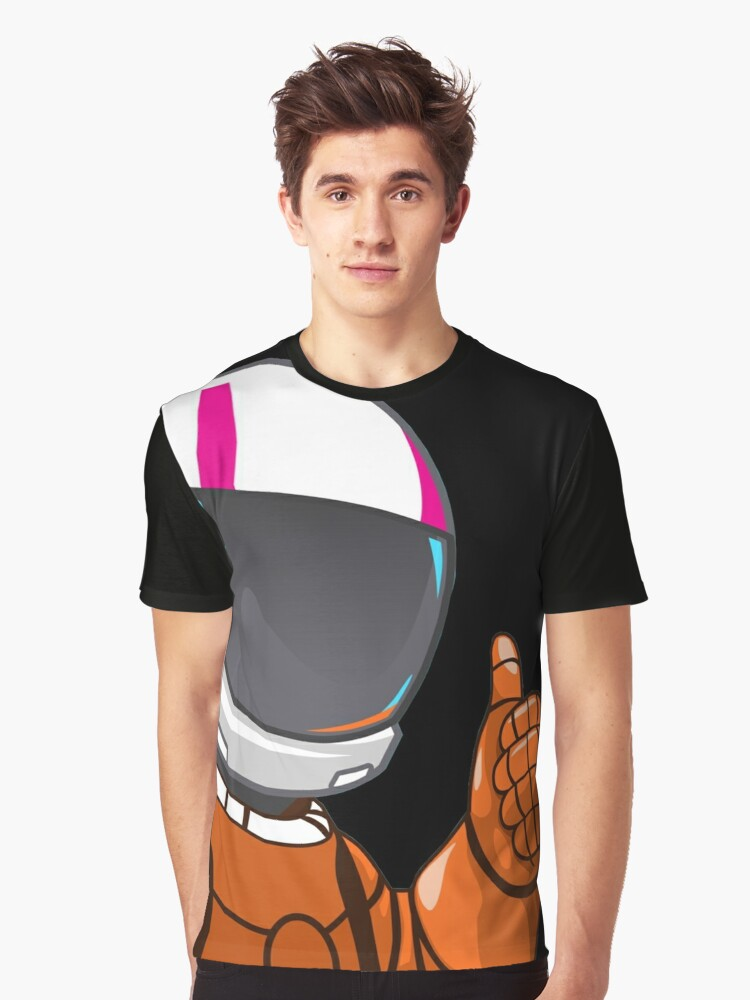 astronaut Graphic T-Shirt Front