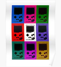 Nintendo Game Boy Classic Pop Art Poster