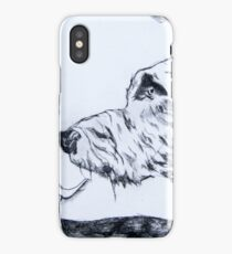 Wolfhound – Drypoint Etching iPhone Case/Skin