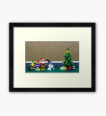 These aren't the santa you are looking for Framed Print