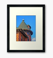 Old Fire House Tower Framed Print