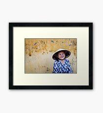 Vietnamese Lady, Hoi Ann Framed Print