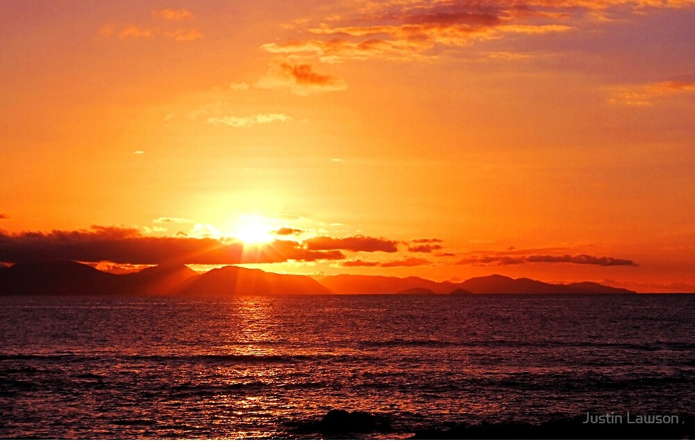 Sunrise over Wilsons Prom by Justin Lawson
