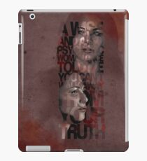 You Can't Walk Away From Your Truth iPad Case/Skin