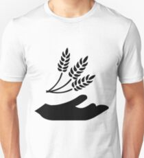 Outstretched Hand and Wheat Unisex T-Shirt