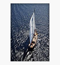 aerial sailboat photography Photographic Print