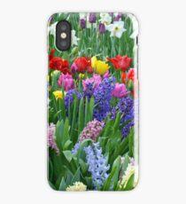 Colorful spring garden iPhone Case/Skin