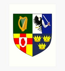 Arms of Four Provinces of Ireland  Art Print