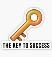 the key to success Sticker