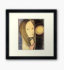 Beautiful Woman and Supernova Framed Print
