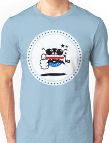 USA Rocker Smiley VRS2 T-Shirt