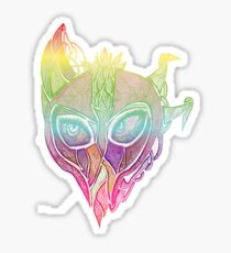rainbow alien swamp monster Sticker