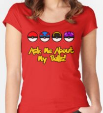 Ask Me About My Balls! Women's Fitted Scoop T-Shirt
