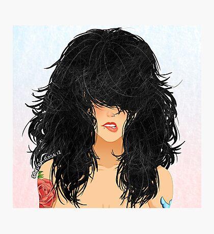 Cheveux Noirs Photographic Print