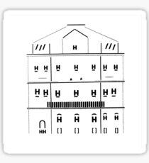 typographical house illustration Sticker