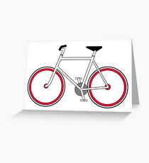 City Velo Fixé - On White Greeting Card