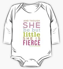 Though She be but Little - Shakespeare QUOTE Long Sleeve Baby One-Piece