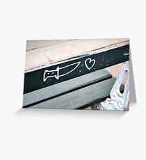Knife & Heart Graffiti, Paris Greeting Card