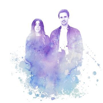 Chloe Bennet and Brett Dalton Watercolor by sprinkleofmia