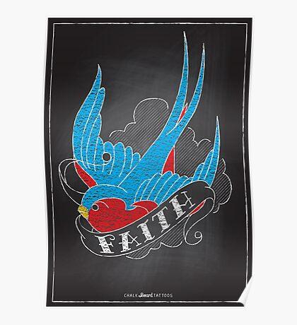 Chalk Board Tattoos - Faith Poster