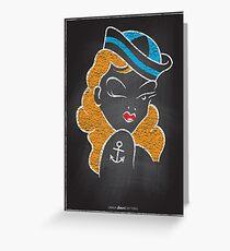Chalk Board Tattoos - Pin Up Greeting Card