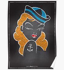 Chalk Board Tattoos - Pin Up Poster