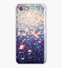 Mauve Teal Galaxy Stars Ombre iPhone Case/Skin