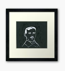 Portrait of Nikola Tesla Framed Print