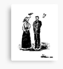 Nikola Tesla and Lady Canvas Print